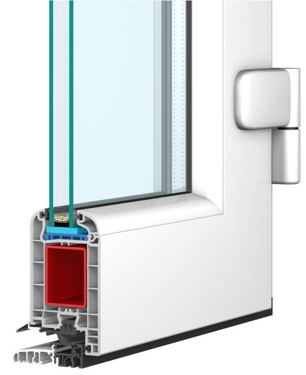 Haustür - Breite 900 mm - 1 Flügel zum drehen mit 2fach oder 3fach Glas